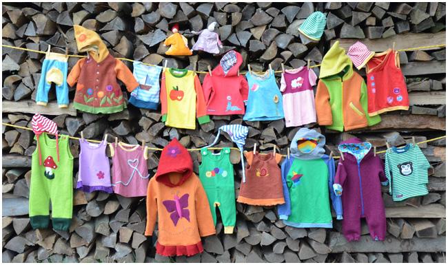 Kinderkleidung auf wäscheleine  Wichtelkind